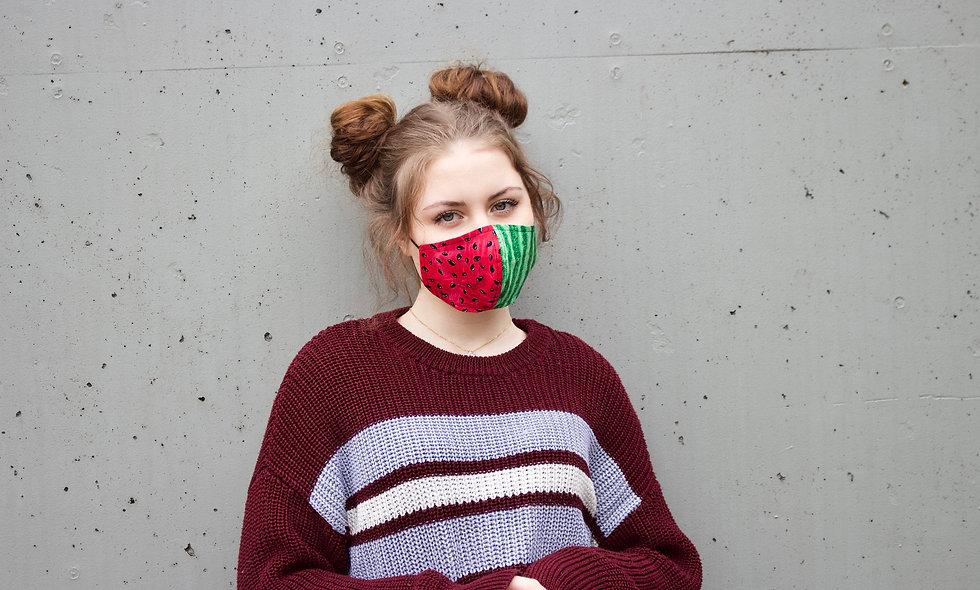 Wassermelone Baumwolle Maske- hannisch