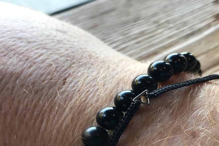 Makramee Dreieck Gold Armband/Fußkette