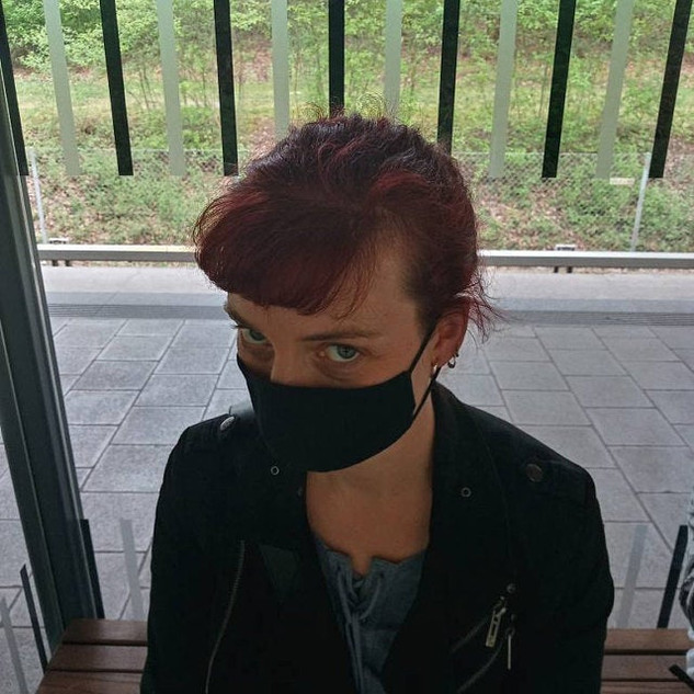 Schwarz Baumwoll Maske