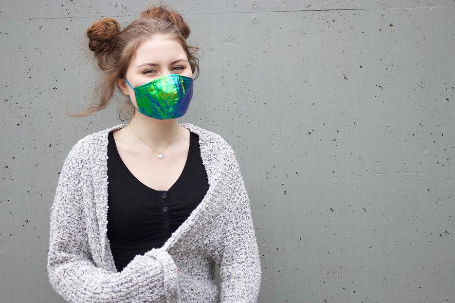 Folie Holographic Blau Grün Maske- hannisch
