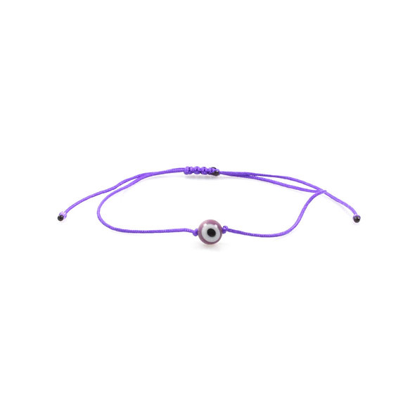 Kordel Evil Eye Bordeaux Rund Perle Armband/Fußkette
