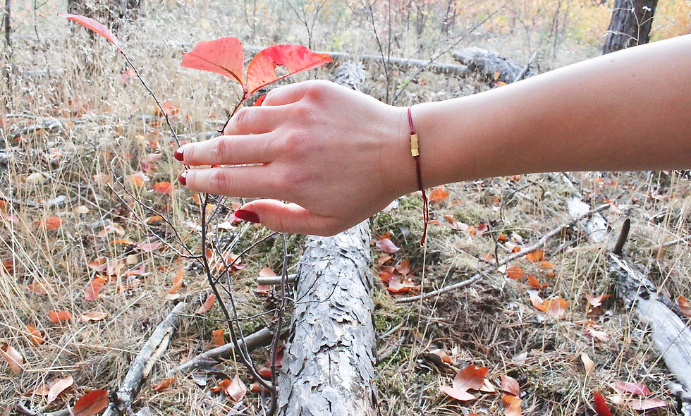 Kordel Würfel Messing Armband/Fußkette