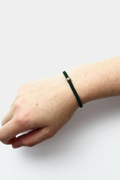 Makramee Silber Perle  Armband/Fußkette