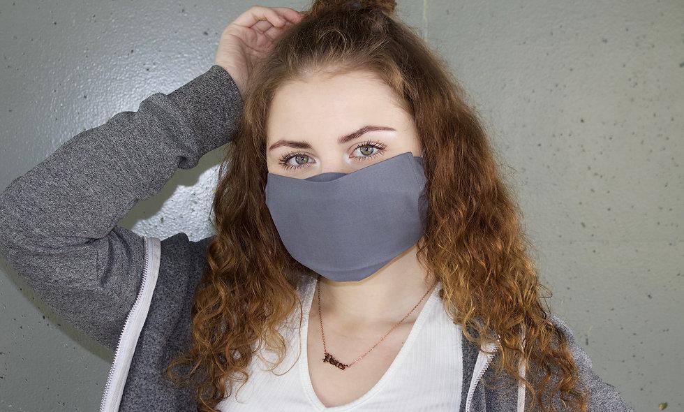 Grau Baumwolle Flap Maske- hannisch