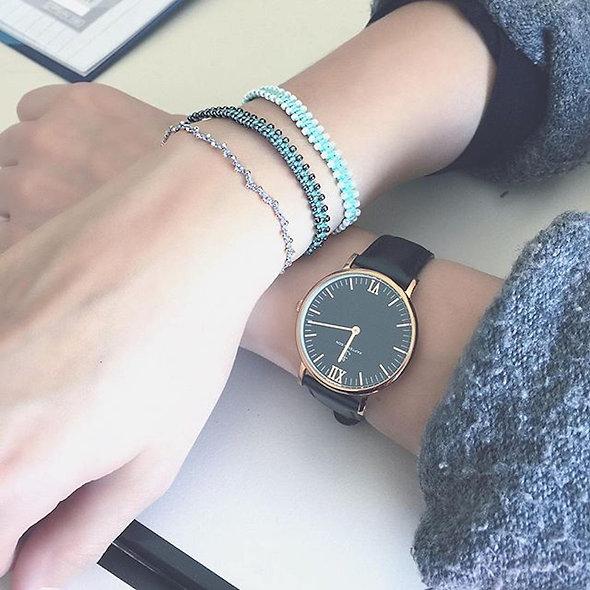 Makramee Viele Kleine Gunmetal Perlen Armband/Fußkette