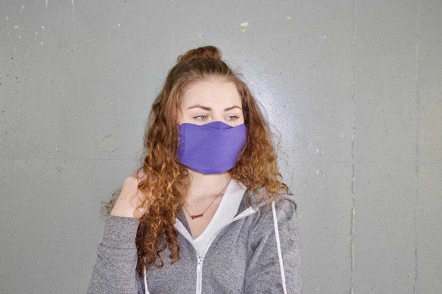 Lila Baumwolle Flap Maske- hannisch