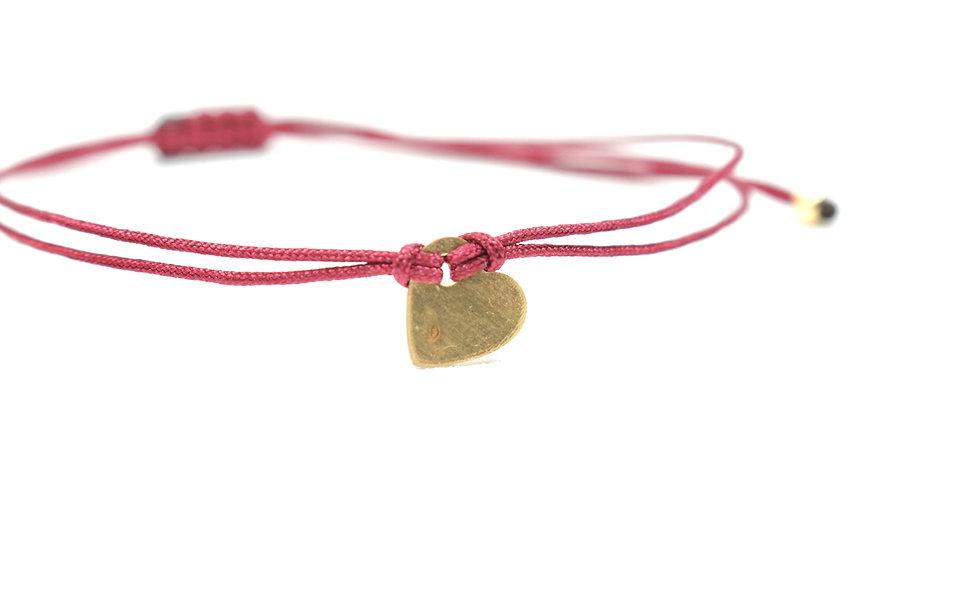 Kordel Herz Gold Armband/Fußkette