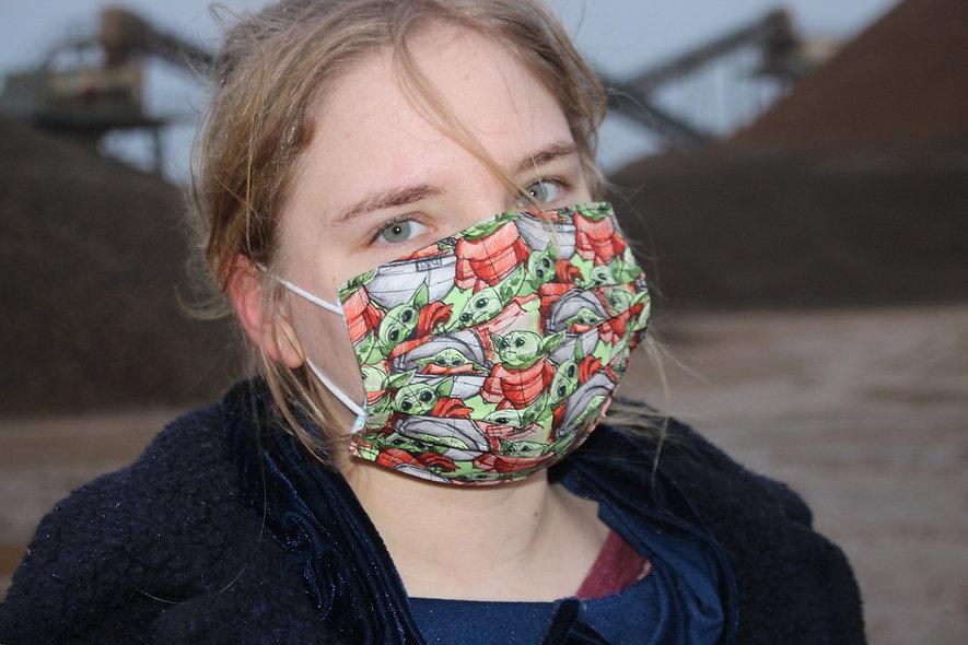 BabyYoda Baumwolle OP- Masken Überzieher- hannisch