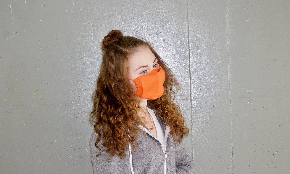 Orange Baumwolle Flap Maske- hannisch