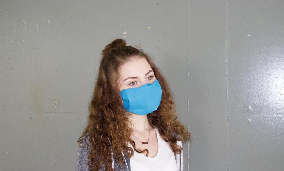 Türkis Baumwolle Flap Maske- hannisch