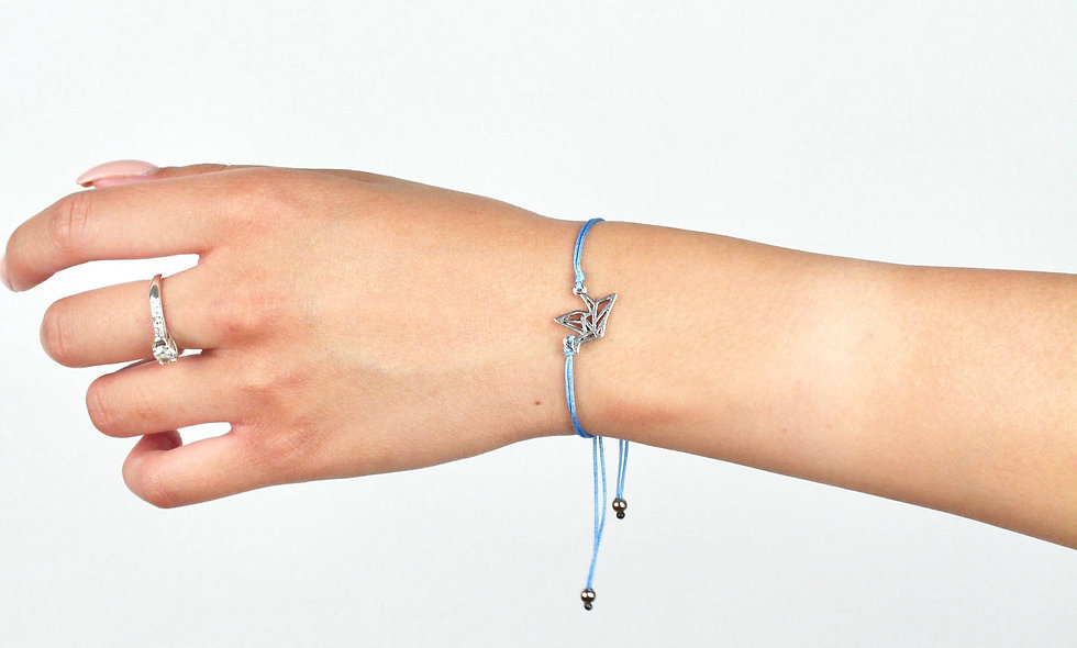 Kordel Origami Schwan Armband/Fußkette