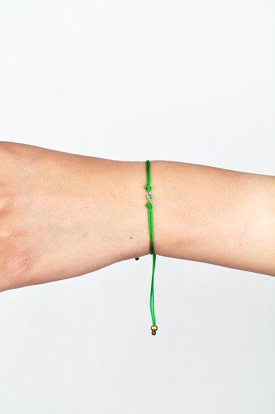 Kordel Winziger Gold Zirkonia Grün Stein Armband/Fußkette