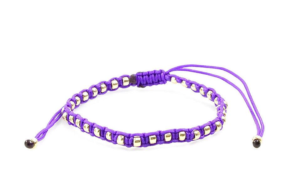 Makramee Eingefasste Gold Perlen Armband/Fußkette