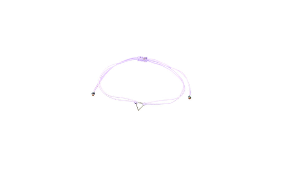 Kordel Dreieck Gunmetal Armband/Fußkette