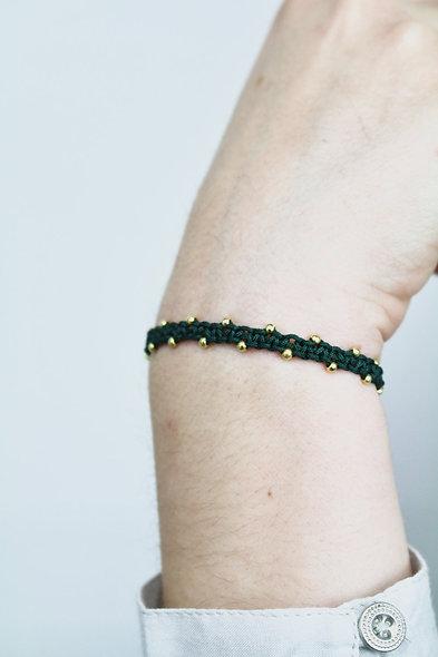 Makramee Winzige Rose Gold Perlen  Armband/Fußkette