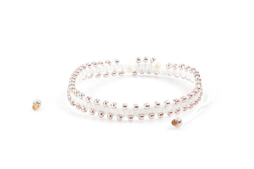 Makramee Viele Kleine Rose Gold Perlen Armband/Fußkette