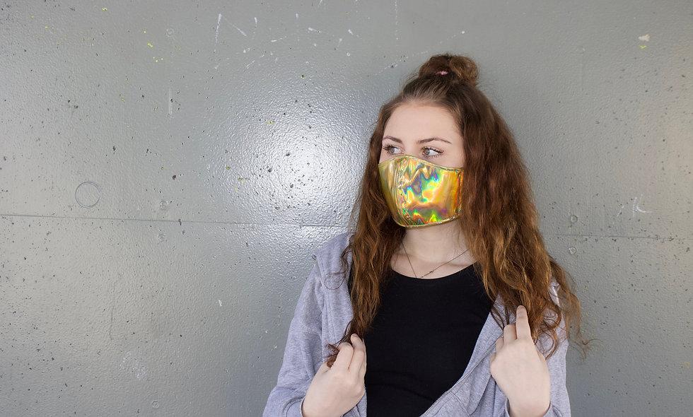 Holographic Gold Maske- hannisch