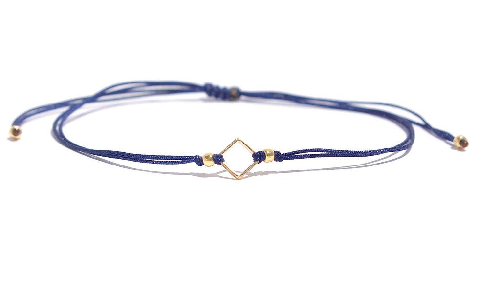 Kordel Quadrat Gold Armband/Fußkette