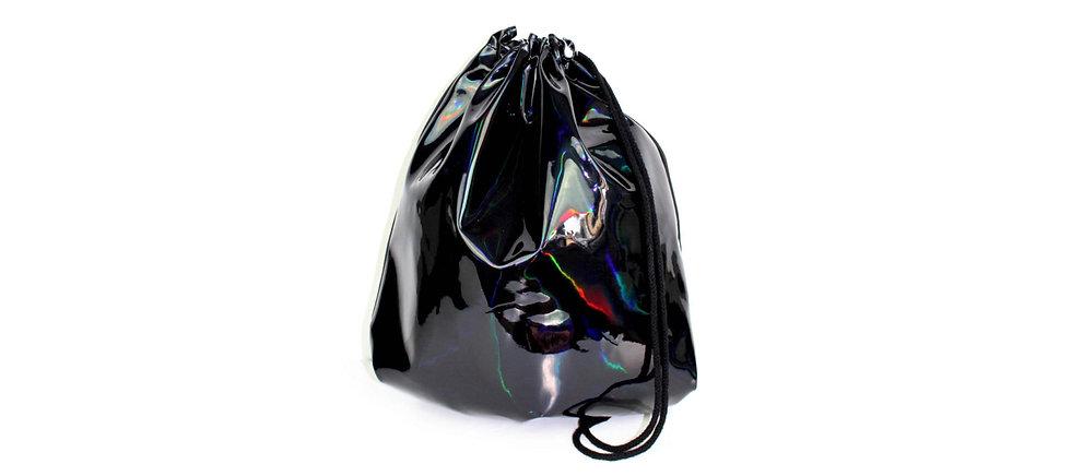 Holographic Leather Schwarz Gym Bag - hannisch