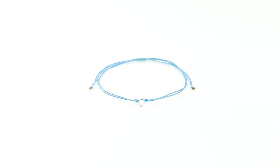 Kordel Dreieck Silber Armband/Fußkette