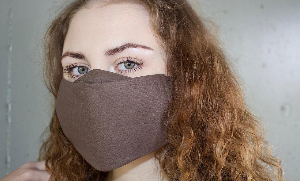 Braun Baumwolle Flap Maske- hannisch