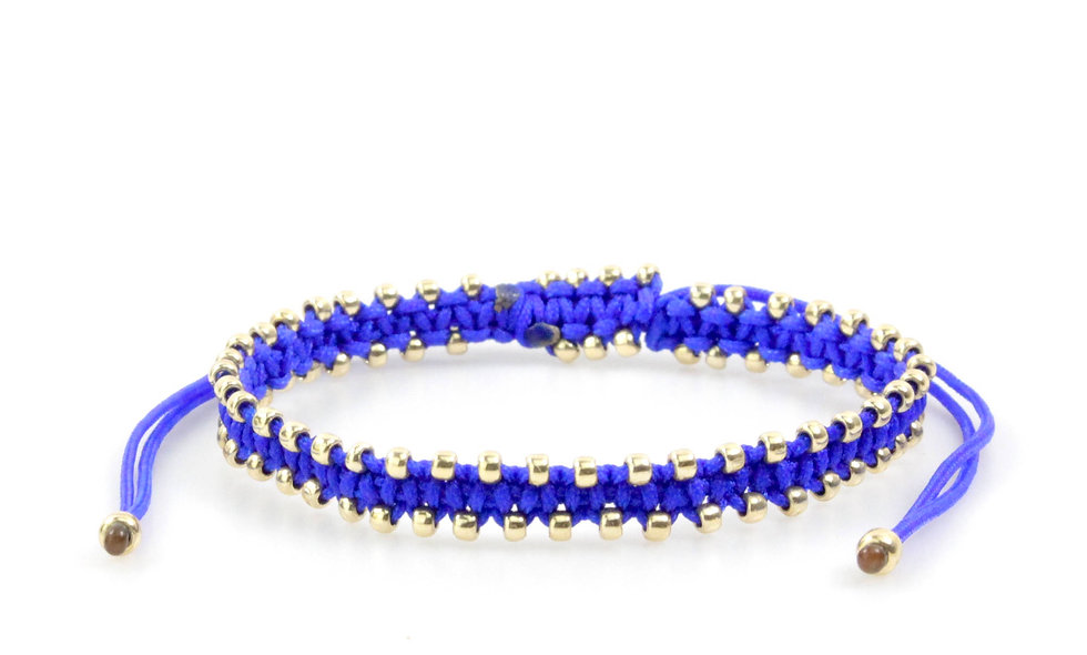 Makramee Viele Kleine Gold Perlen Armband/Fußkette