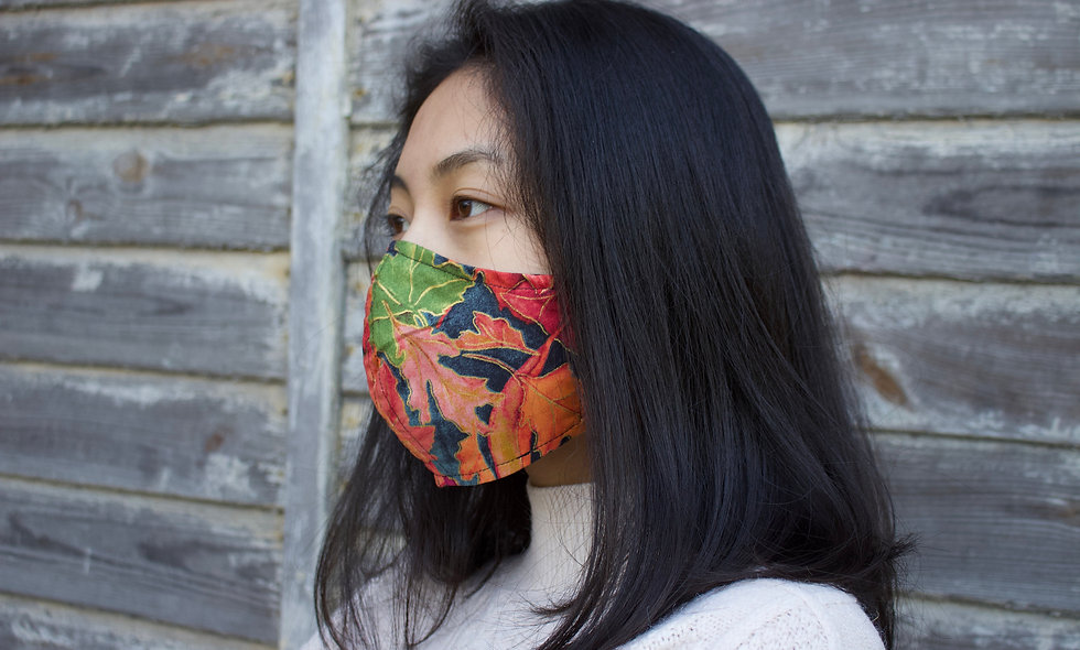 Herbst Blätter Baumwolle Maske- hannisch