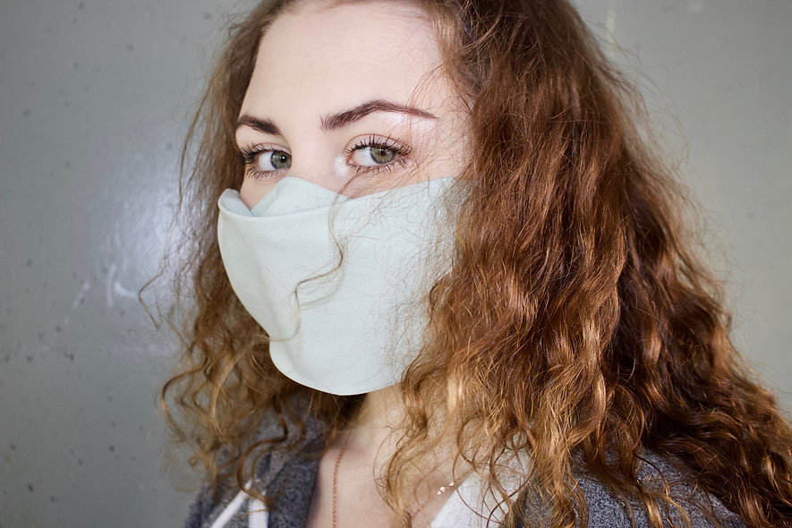 Hell Grün Baumwolle Flap Maske- hannisch