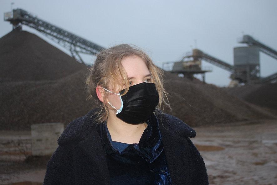 Samt Schwarz Baumwolle OP- Masken Überzieher- hannisch