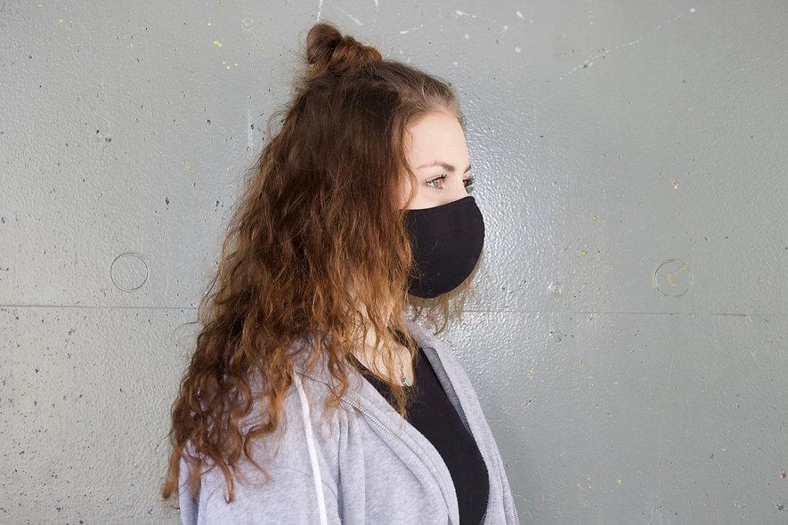 Schwarz Baumwolle Maske- hannisch