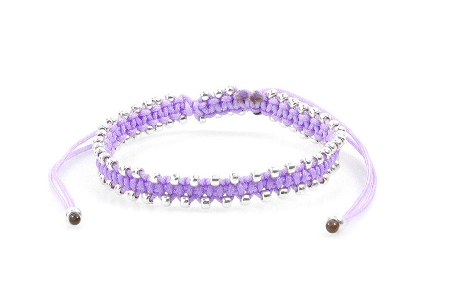 Makramee Viele Kleine Silber Perlen Armband/Fußkette