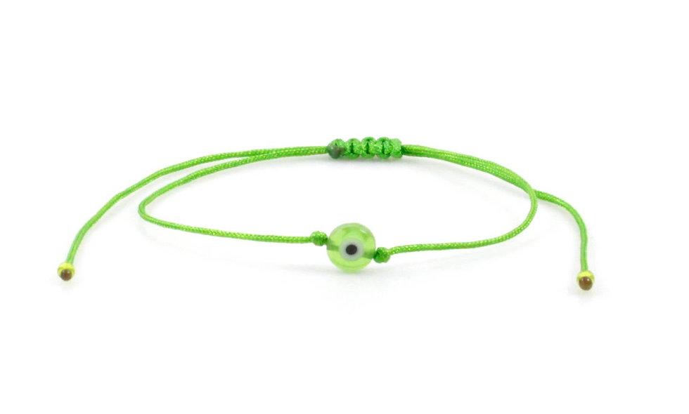 Kordel Evil Eye Hell Grün Perlen Armband/Fußkette
