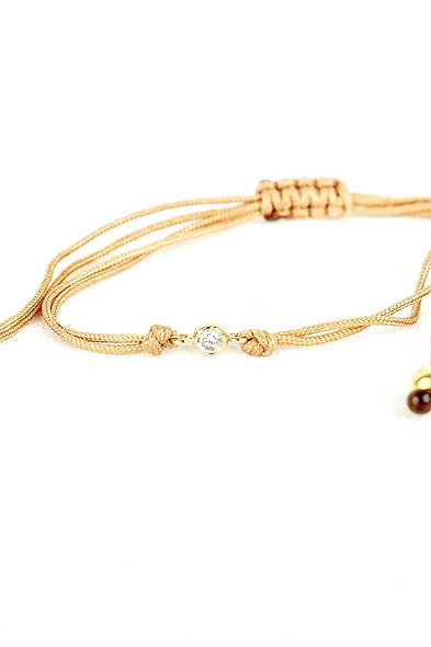 Kordel Winziger Gold Zirkonia Klar Stein Armband/Fußkette
