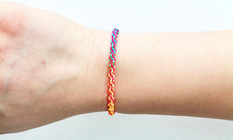 DNA Makramee Armband/Fußkette