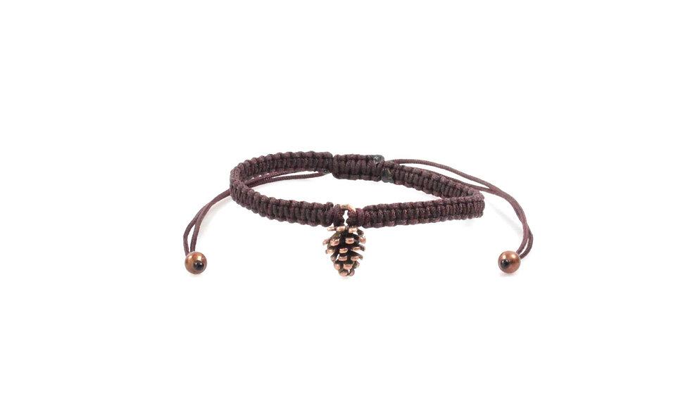 Makramee Tannenzapfen Armband/Fußkette
