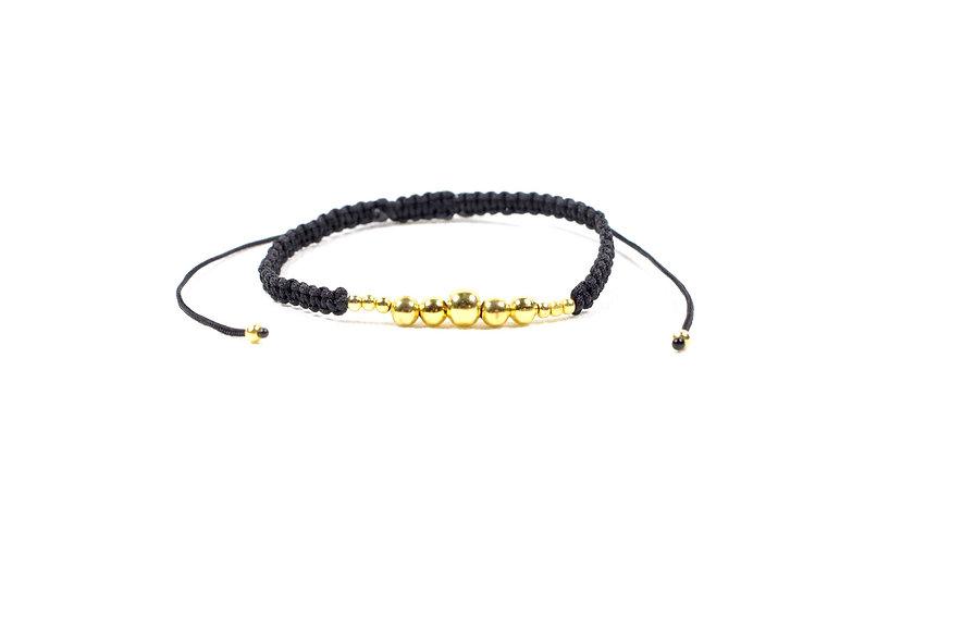 Klein zu Groß Makramee Gold Perlen  Armband/Fußkette