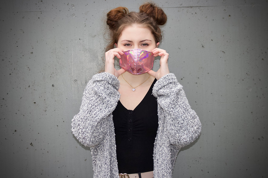 Holographic Rosa Maske- hannisch