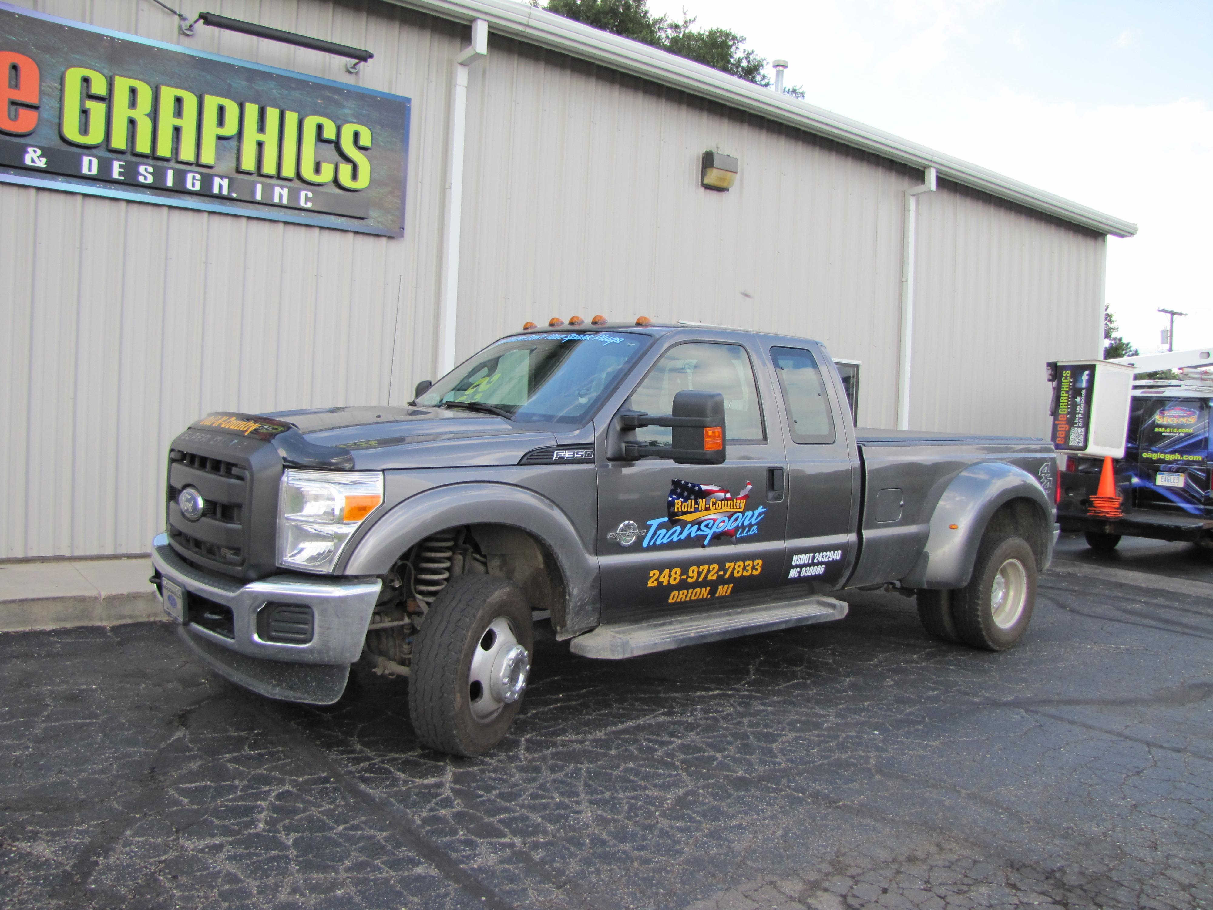 Truck Lettering Spot Wrap