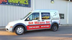 Partial Wrap Sit Means Sit Van
