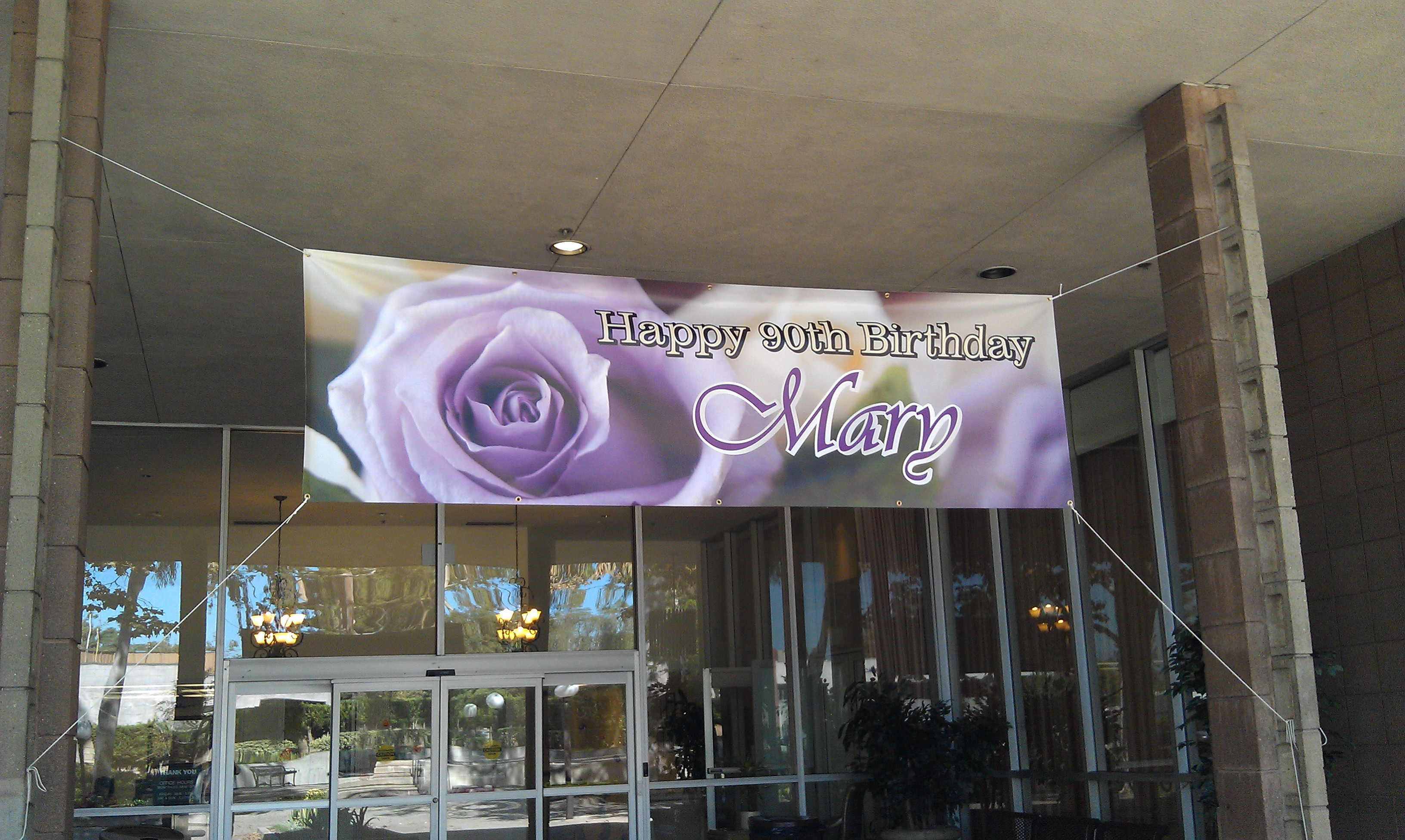 Custom Printed Birthday Banner