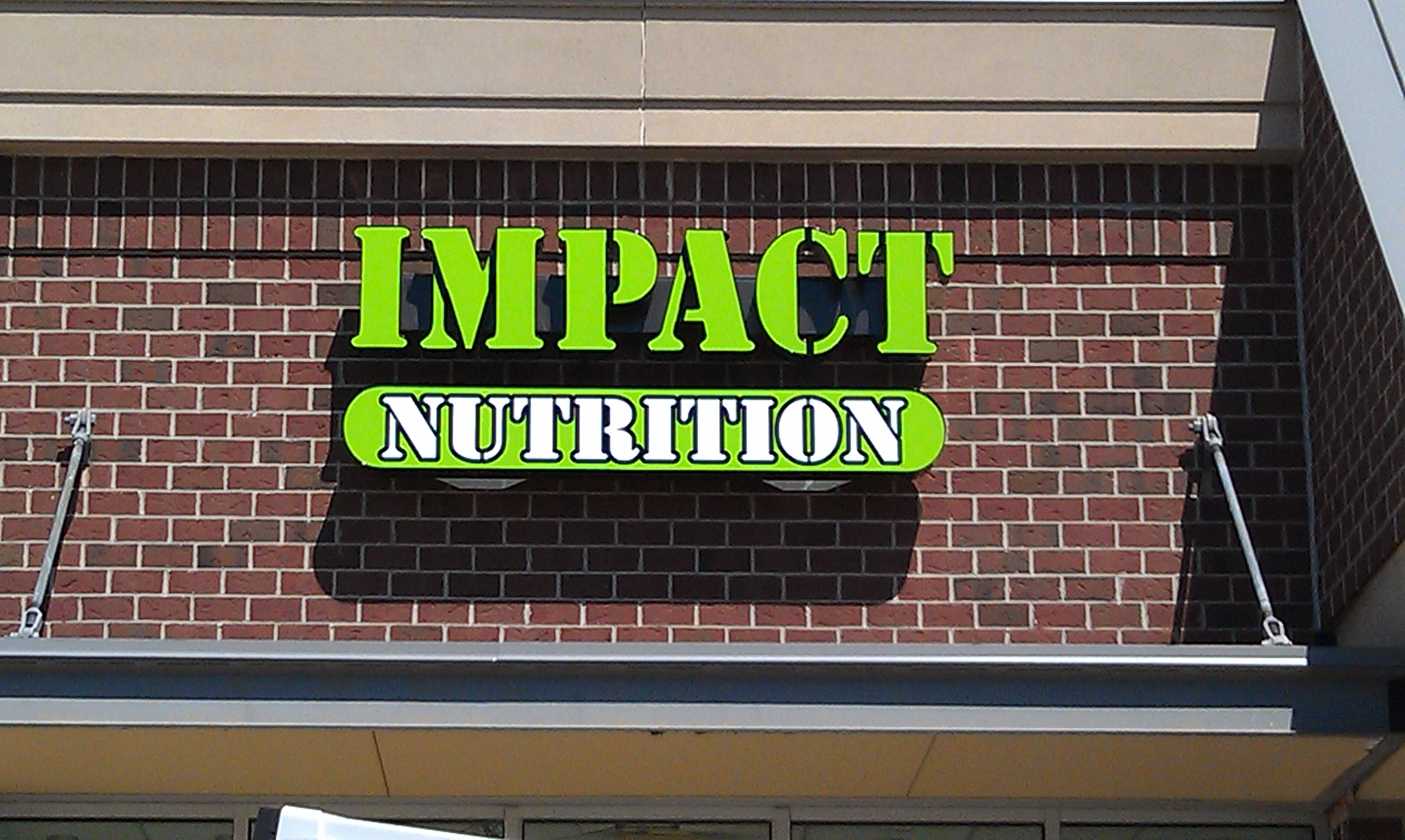Impact Nutrition Channel Letter LED