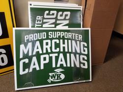 Marching Band Yard Signs Kettering