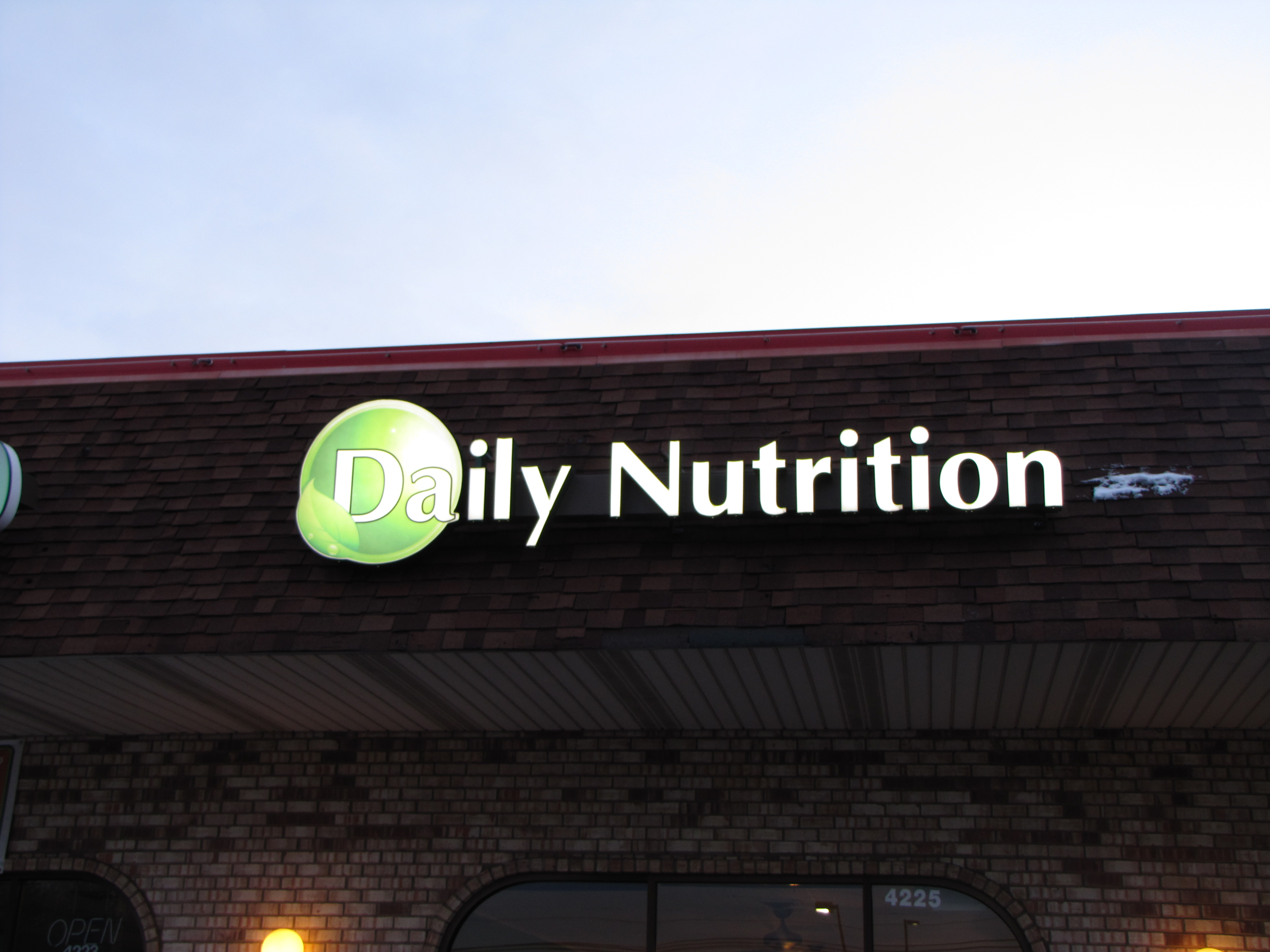 Daily Nutrition Channel Letters