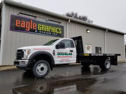 Spot wrap truck flatbed 3m sign shop