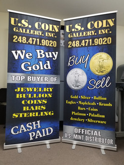 Retractable Banners for U.S. Coin