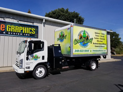 Green Away 3M vinyl wrap box truck