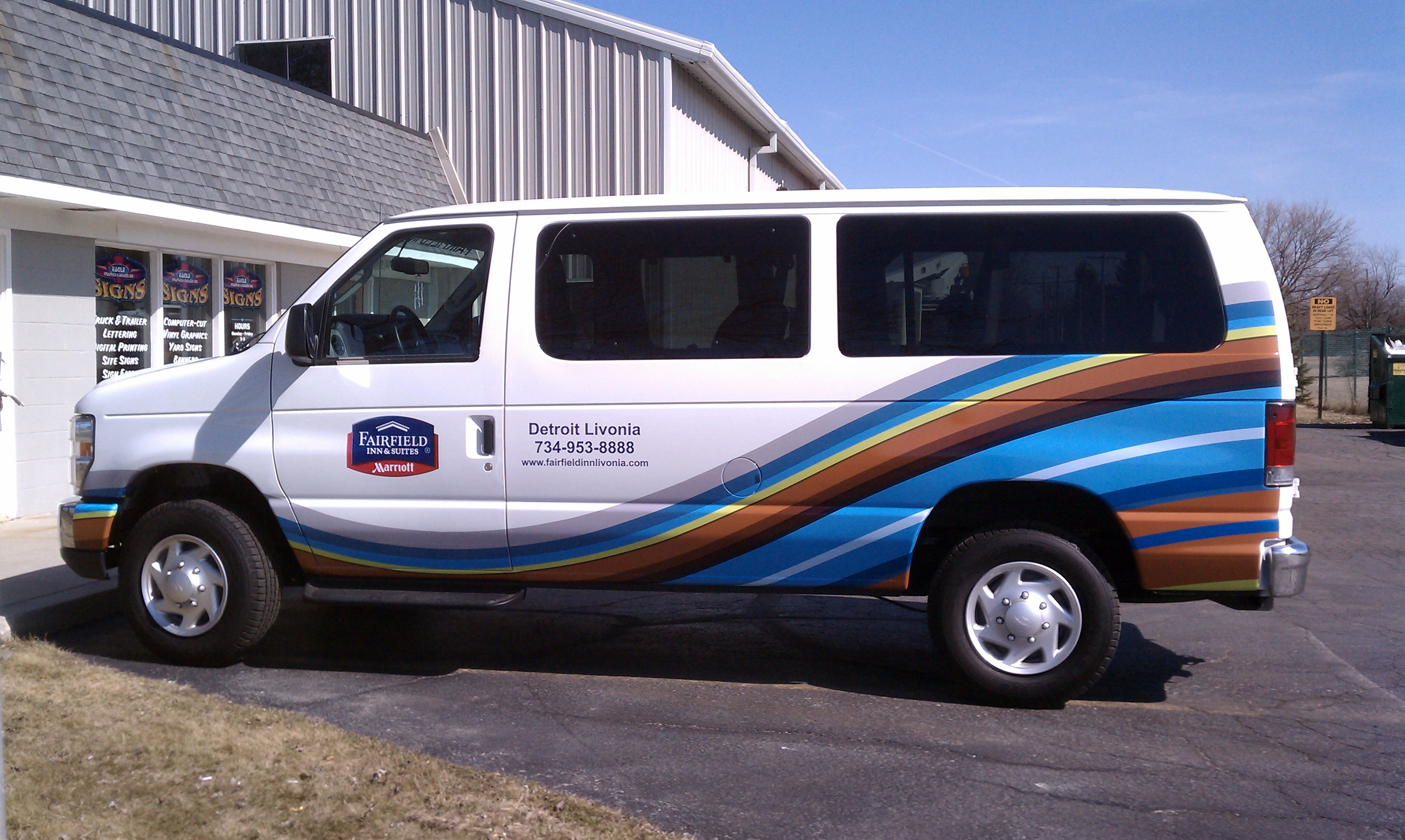 Partial Van Wrap for Fairfield Inn