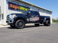 3M vinyl partial wrap F-350 Ford