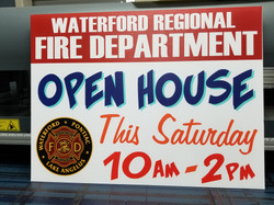 Waterford FD Open House Yard Signs