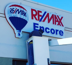 Remax Wall Sign Install